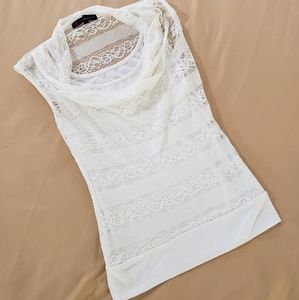 Lace HeartSoul Cream Camisole Tank Top  Size XS